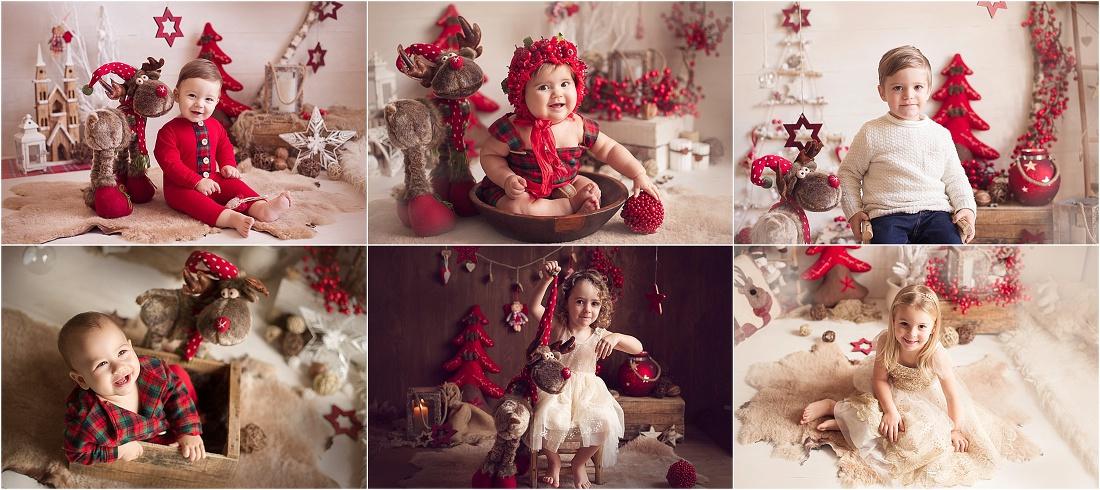 sessioni fotografiche di natale per bambini